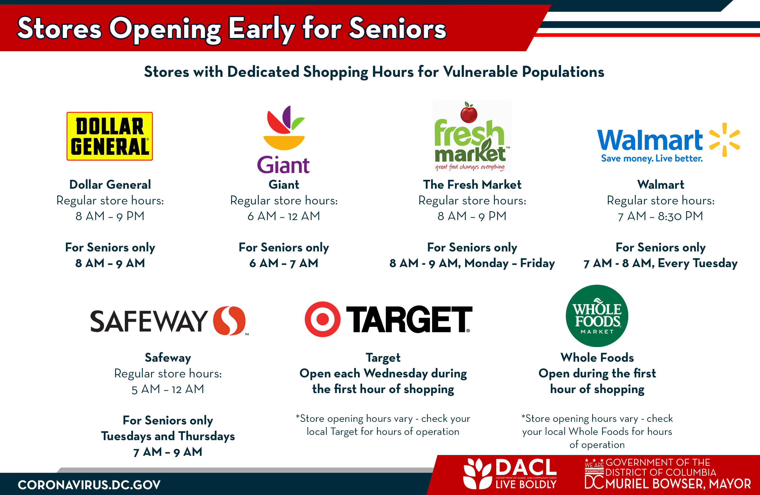 Stores Opening Early for Seniors