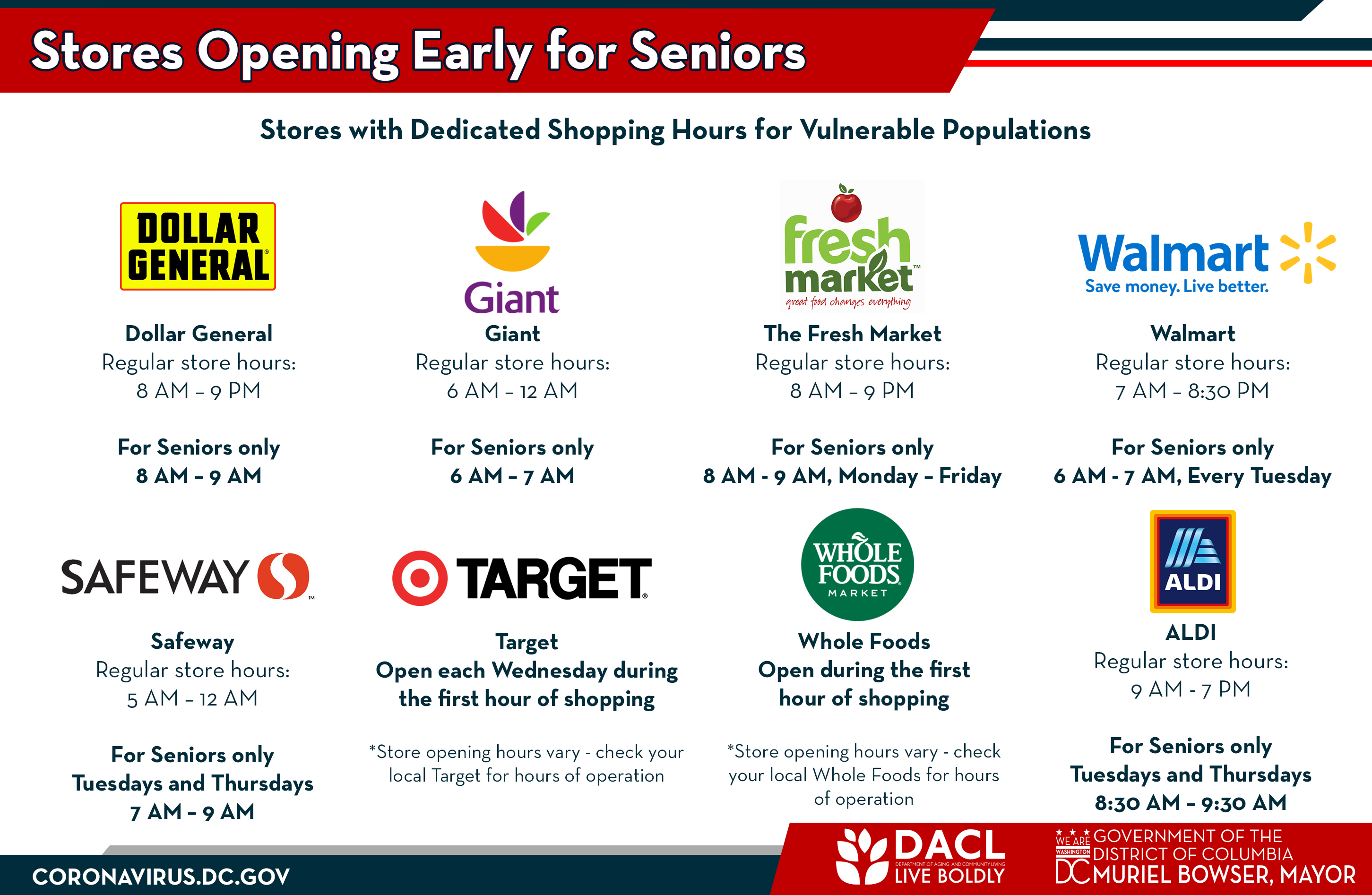 Special Grocery Store Hours Available for Seniors